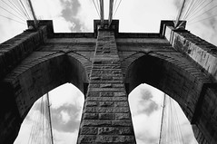 Brooklyn Bridge (rtowsky) Tags: bw brooklyn gothic towers cables brooklynbridge suspensionbridge