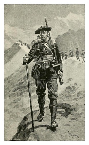 024-Cazador alpino frances-The Armies of to-day.. (1892)-varios autores