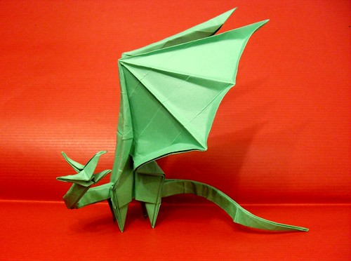 Simple Dragon Dragon Folding Designed by Shuki Kato folded by me from 1