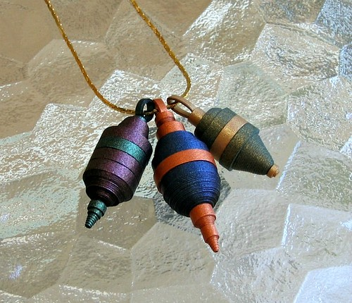Metallic paper pendants