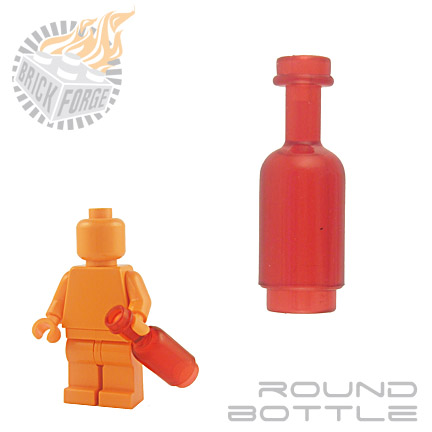 Round Bottle - Trans Red