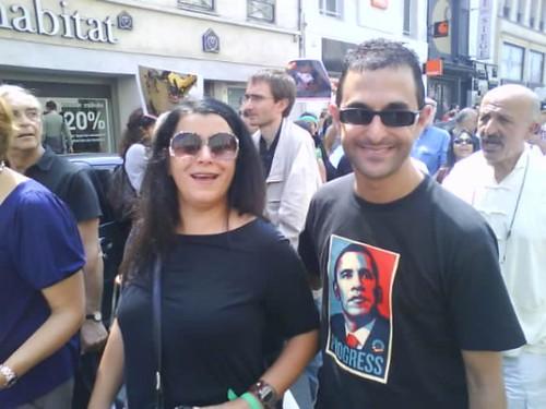 Marjane Satrapi (réalisatrice), Reza Deghati (photographe) et Arash Derambarsh [2009] by Arash Derambarsh