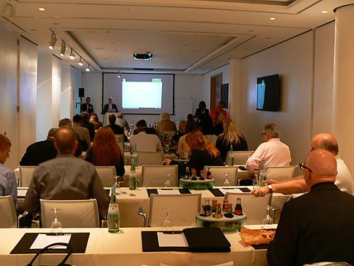 Simon Flatt welcomes editors to Pinnacle European Electronic Summit