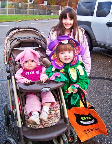 My girls, ready to Trick or Treat