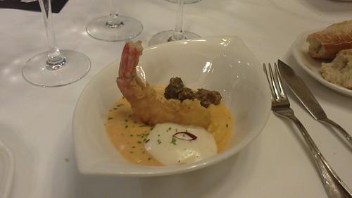 Pamplona | La Cocina de Alex Múgica | Bacalao con langostino