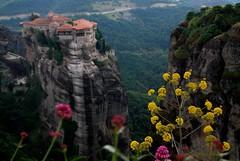 (Con.Otros.Ojos) Tags: naturaleza flores verde paisaje greece grecia montaas meteora kalambaka trikala monasterios