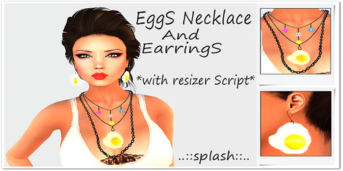 Eggs Necklace and Earrings by Cherokeeh Asteria