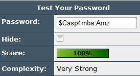 Choosing a strong password