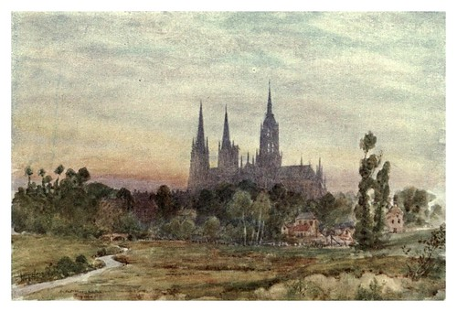 021-Catedral de Bayeux-Cathedral cities of France 1908- Herbert Menzies Marshall