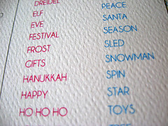 Letterpress Word Search Holiday Card