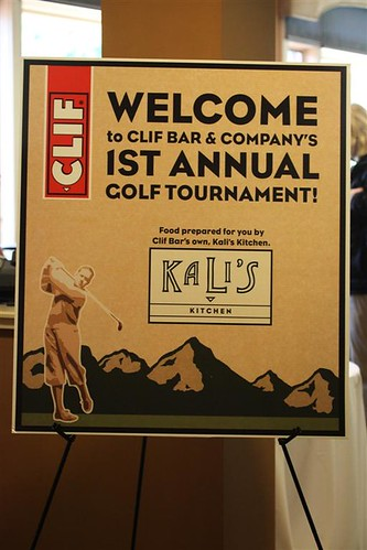 Clif Bar Charity Golf Tournament - Kali's Sign