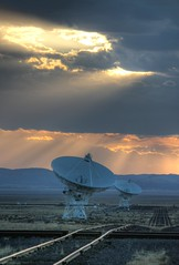 Sunset over the Very Large Array (HDR) (Inanimate Carbon Rod) Tags: new canon mexico high dynamic very large nm range hdr vla array xsi photomatix
