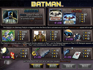free Batman slot payout