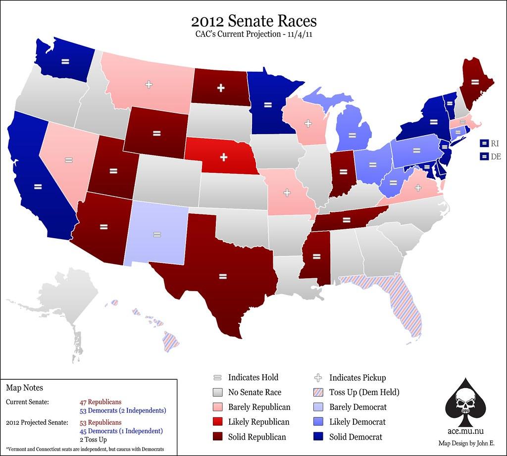 2012 Senate Race Projections
