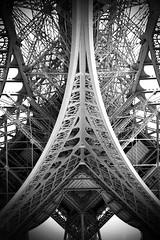 Eiffel tower / tour Eiffel Paris B&W N&B (jm4op) Tags: old bw abstract paris building tower art geometric vertical composition creativity desi