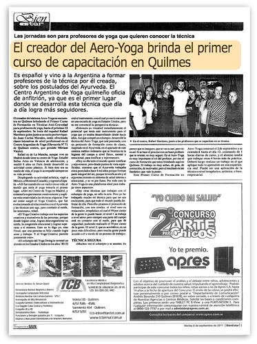 Aero Yoga© (Aéreo) en la Prensa Internacional (España- Argentina)
