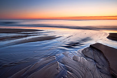 Balmedie . . .again (TheNorthLight.co.uk (davidlangan)) Tags: ocean morning november blue sea water sunrise dawn scotland sand stream aberdeenshire sunday scottish aberdeen northeast balmedie 2011 beachcoast menie explored