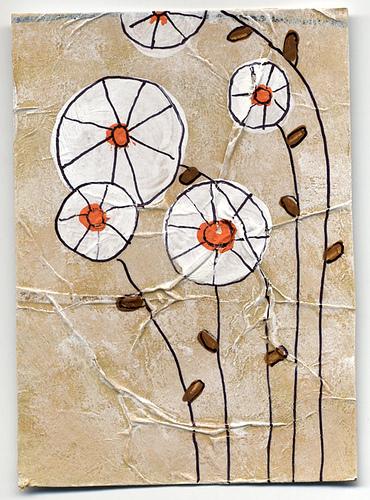 1970s flower atc