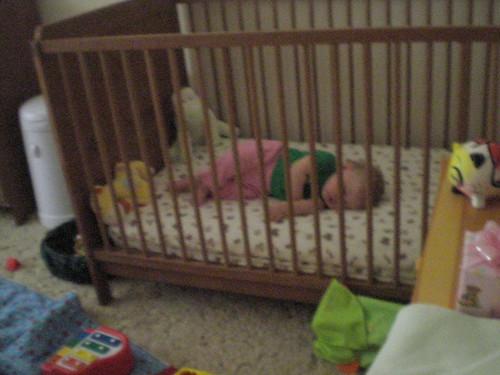Lowered the crib