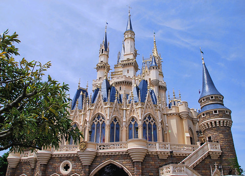 Backside of The Castle - Tokyo Disneyland