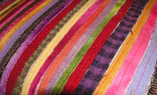 Wool Strips Pillow 2