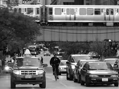 To Go (Chicago Man) Tags: city urban usa chicago cars public bike train illinois downtown cta publictransportation traffic loop authority bikes chitown scene chi transportation transit chicagotransitauthority iwanski chitownphotoscom johnwiwanski