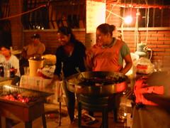Making Tlayudas (knightbefore_99) Tags: party food art luz grave graveyard cheese mexico noche beans pizza mexican taco oaxaca diadelosmuertos huatulco santamariadehuatulco tlayudas