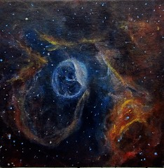 Alizey Khan - NGC 7635; Bubble Nebula (alizeykhan) Tags: moon art painting stars space galaxy nebula cosmic cosmos nebulae spacetuna