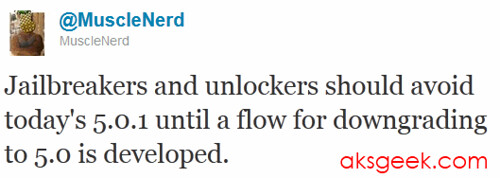 iOS 5.0.1 Warning for Jailbreaker