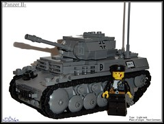 Lego -Panzer II- (=DoNe=) Tags: legopanzerii ww2 tanklego germanlegopanzertankmodellego vehicle nazi german by done