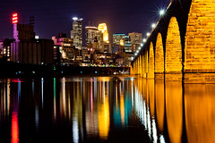 Minneapolis 111111-4.jpg (RJIPhotography) Tags: city bridge urban minnesota architecture night evening minneapolis ze stonearchbridge makroplanart250