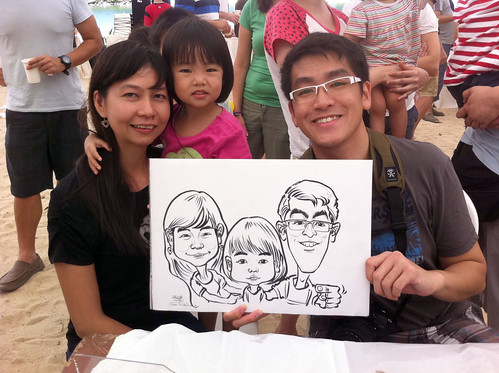 caricature live sketching for LGT Family Day - 3