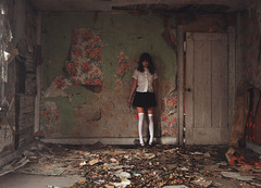 (yyellowbird) Tags: wallpaper house abandoned floral girl peeling lolita cari grrrrrain