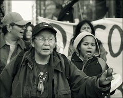 occupy toronto marches in solidarity with first nations .....