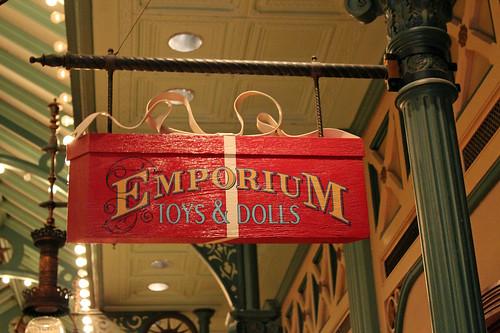 Emporium sign in the Liberty Arcade