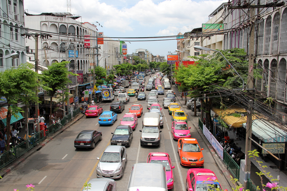 Colorful Traffic of Bangkok