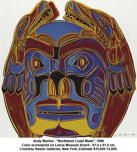 "Andy Warhol - ""Northwest Coast Mask"", 1986 by artimageslibrary"