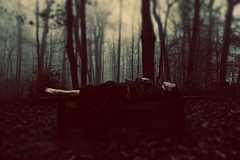 Day 103- Gravedigger (amandanpowell) Tags: trees mist selfportrait black rain fog death darkness foggy 365 montesanomountain lifevsdeath