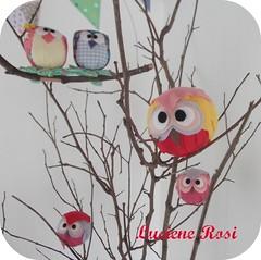Corujinhas nos galhos (Luciene Rosi ) Tags: brasil handmade artesanato owl feltro aniversrio novembro tutorial corujas corujinhas lucienerosi festacorujinhas corujinhasredondas