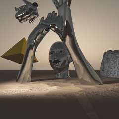 Ascended Master II (Transmuteo) Tags: art pyramid mystical cgi newage