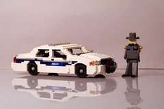 Ford Crown Victoria - Washington State Police (lego911) Tags: auto seattle usa ford car america sedan washington model highway lego state 911 police victoria vic crown emergency lino patrol unit moc miniland foitsop lego911 en114