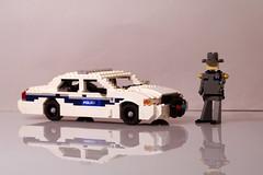 Ford Crown Victoria - Washington State Police (lego911) Tags: auto seattle usa ford car america sedan washington model highway lego state 911 police victoria vic crown emergency lino patrol unit moc miniland foitsop lego911 en114