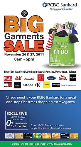 RCBC Bankard x BIG GARMENTS SALE_poster