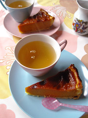 Pumpkin Pie! (Nana Odile) Tags: thanksgiving pink cup set vintage bavaria 60s aqua tea pastel plate retro sabre german pumpkinpie trio 1960s vintagehousewares gaydonmelmex winterlingbavaria