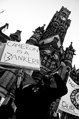 FU*K THE CUTS (Elliot young) Tags: uk people david west public person is riot movement bradford emotion fuck yorkshire protest wanker anger cameron angry and cuts the banker studentprotests pensions occupy bankingcrisis pensioncuts reveltion