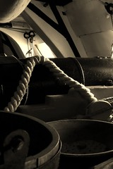 hms victory lower decks (ben cairns) Tags: england sepia bucket hampshire rope cannon portsmouth hmsvictory royalnavy portsmouthhistoricdockyard