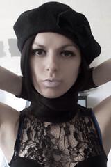 (MairanRuth) Tags: woman girl beauty face fashion lady female french photography model eyelashes lace australian makeup gloves lipstick beret lacedress australiangirls mairanruth