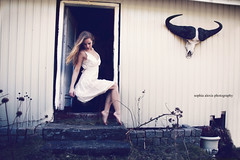 (Sophia Alexis) Tags: white girl stairs canon hair eos skull toes dress tip 7d