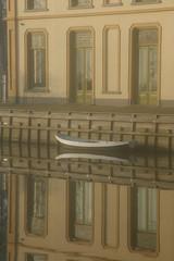 Vechtoever (Harry Mijland) Tags: mist holland reflection fog gold boat utrecht vecht dearharry harrymijland vechtoever