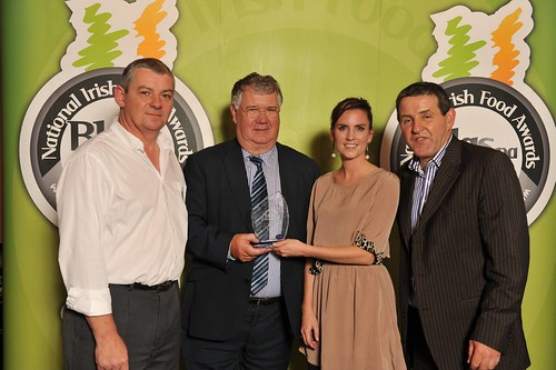 Ruth Hussey of Pure foods receiving her award